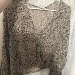 Dalmatian print long sleeve blouse  🐶